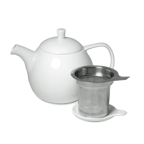 White Tea Pot With Screen