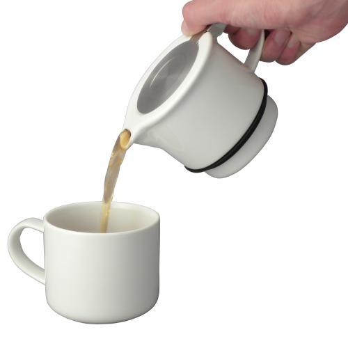 Tea Pot Pouring Tea Into Mug