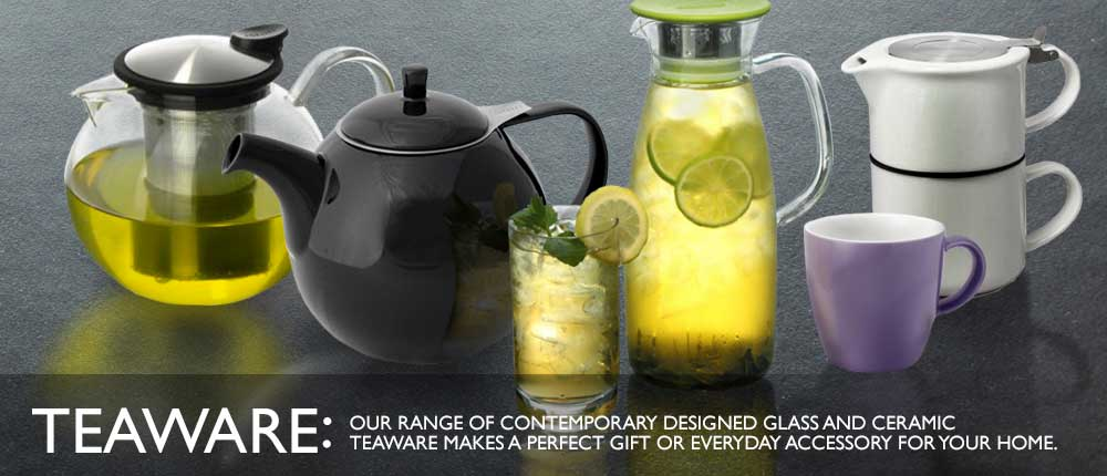 Contemporary Designed Glass And Ceramic Teaware
